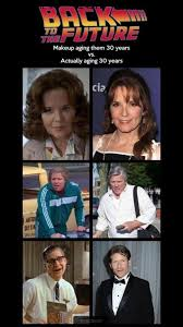 Back To The Future Meme - back to the future actors years ago with aging makeup and now years