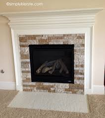 Painted Stone Fireplace Fireplace Makeover Using Airstone Simplykierste Com