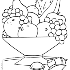 printable fruit coloring pages u2013 az coloring pages coloring books