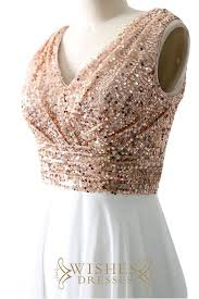 sequin top bridesmaid dresses gold sequins top and chiffon bridesmaid dress formal dress