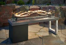 outdoor greatroom fire table crystal fire pit table impressive wave fire pit by outdoor greatroom