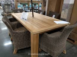 Costco Outdoor Patio Furniture 7 Teak Dining Set Teak Patio Furniture Costco Sg2015