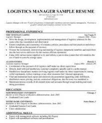 logistics resume objective resume resume objectives for