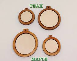 mini wood embroidery hoop frame for diy pendant ornaments