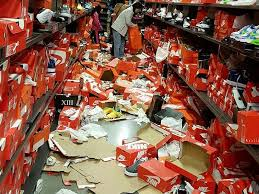 black friday sale stores shoppers completely trashed a nike store in seattle on black