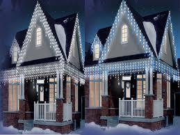 christmas outdoor icicle lights home design