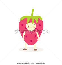 editable fruit apple day apple costumes fruit stock vector 289174445