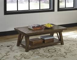 Ashley Outdoor Furniture Ashley T863 1 Dondie Rustic Brown Finish Rectangular Cocktail Table