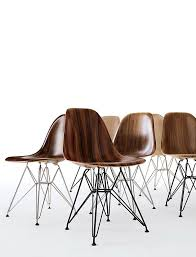 eames molded wood side chair wire base herman miller