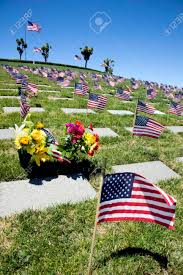Fly Flag At Half Mast American Flags Headstones Flowers And Coffin Flags Flying