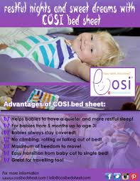 a good night sleep with cosi bed sheet