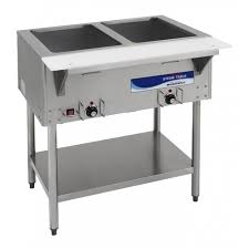 electric table top steam table radiance rst 2p 30 electric s s food steam table w 2 top