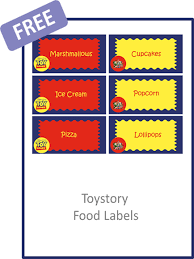 toy story food labels free pdf download birthday ideas