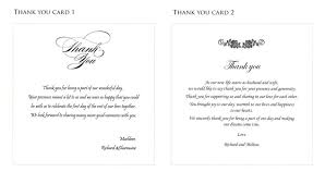 wedding gift thank you notes thank you card photography effect sle wedding thank you cards