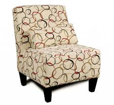 decoration cool accent chairs with polka upholstery and short
