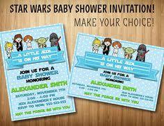 Star Wars Baby Shower Invitations - printable star wars baby yoda baby shower by dottierebeldesigns