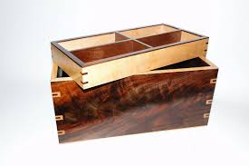 Hidden Compartment Coffee Table by Custom Walnut And Curly Maple Men U0027s Watch Box With Hidden Drawer