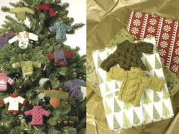 sweater knitting patterns to make a tree ornament