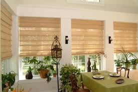 natural woven shades featuring cordless one operating system