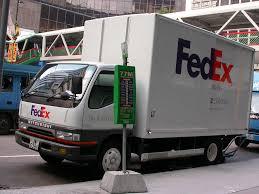 mitsubishi trucks fedex truck hong kong a mitsubishi fuso fedex delivery tr u2026 flickr