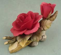 capodimonte roses 2 vintage capodimonte porcelain flowers napoleon italy