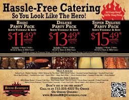 catering menu boxer bbq catering