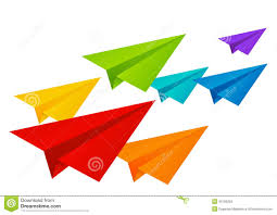 color paper color paper airplanes royalty free stock photography image 34502637