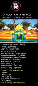 party rentals broward find the best 24 hours party rentals all days bounce houses rental