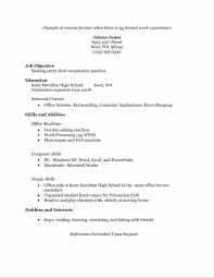 resume free sample resume experience example sample resume123 resume high school free example and working student writing download working resume experience example student resume