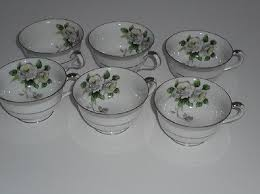 white china pattern 3939 china white pattern 3939 footed tea cups set of six 2 1 4