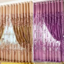 curtain tulle peony luxury window sheer curtains for living room