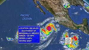 Manzanillo Mexico Map by Hurricane Jova Headed To Mexico Youtube