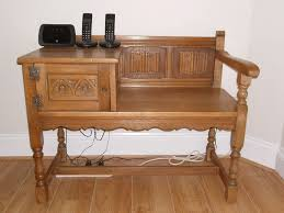 Antique Telephone Bench Table Another Vintage Telephone Table With Old Telephone Among