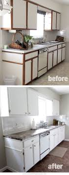 can white laminate cabinets be painted kitchen before after diy diy kitchen cabinets