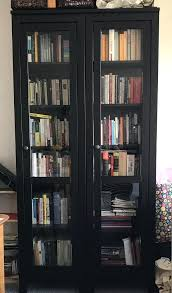 bookcase ikea black bookcase with glass doors black wood