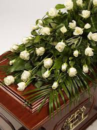 casket spray and foliage casket spray