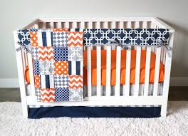 Baby Boys Crib Bedding by Baby Boy Crib Bedding Set Orange Navy Blue And Grey U2013 Giggle