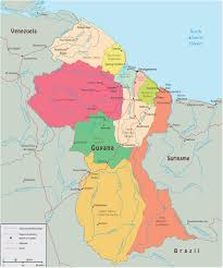 Political Map Of Latin America Political Map Of Guyana
