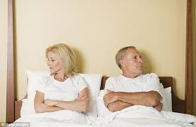 Lovely Couple In Bed Lying In Bedroom It U0027s Not Normal To Stop Having When You U0027re In A Long Term