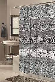 Bathroom Sets Shower Curtain Rugs Snow Leopard Safari Bathroom Creek Decor