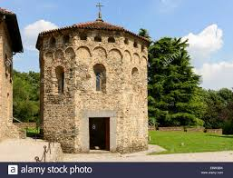 church baptistry church baptistery octagonal romanesque stock photos church