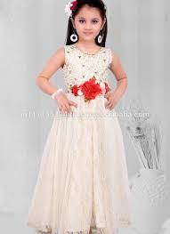 2016 kids wear children frocks designs peach party wear indian