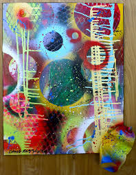 original abstract contemporary pop art fine art spray paint