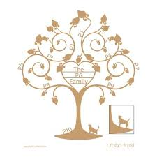 design personalised family tree wall twist