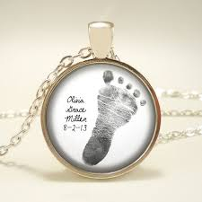 footprint necklace personalized three for 59 25 your baby s footprint personalized pendant