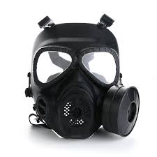 Halloween Costumes With Gas Mask by Amazon Com Vilong Airsoft Paintbal Dummy Gas Mask Fan For