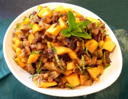 cuisiner des aubergines chutney mangues aubergines la recette facile par toqués 2 cuisine