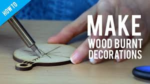 how to make wood burnt christmas decorations youtube