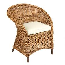 brown rattan club chair with cushion tree shops
