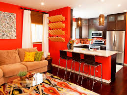 brilliant orange walls living roomin inspiration to remodel house